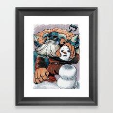 Polar Knight Makes a Friend Framed Art Print