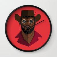 django Wall Clocks featuring Django Unchained by justdan