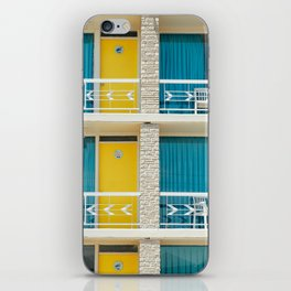 Retro Hotel Print iPhone Skin