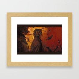 All Eyes on The Saint Framed Art Print