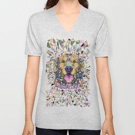 rainbow dog Unisex V-Neck