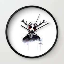 Antlers // Fashion Illustration Wall Clock