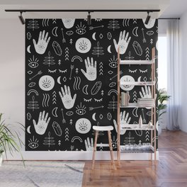 Inverted Witchy Pattern Wall Mural