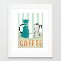 coffee Framed Art Prints featuring Coffee by Jenny Tiffany