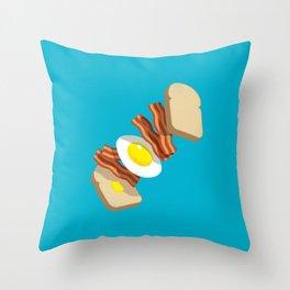 Bacon Sandwich Throw Pillow