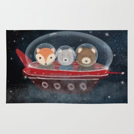 a little space adventure Rug