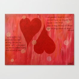 It's all about LOVE Canvas Print