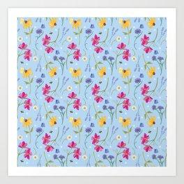 Wild Field Flowers Art Print