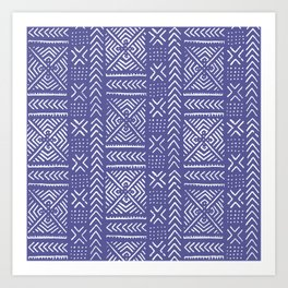 Line Mud Cloth // Iris Art Print