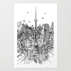 Toronto! (version #2) Art Print