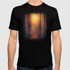 Seeking the light. Black X-LARGE Mens Fitted Tee