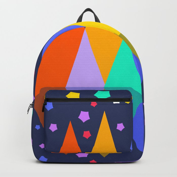 Mountains at night Backpack