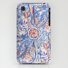 Boho Flower Burst in Red and Blue Slim Case iPhone (3g, 3gs)