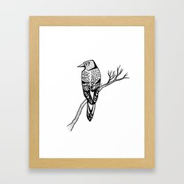Bird on Branch Framed Art Print