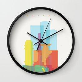 Shapes of Tel Aviv Wall Clock
