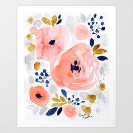 Genevieve Floral Art Print
