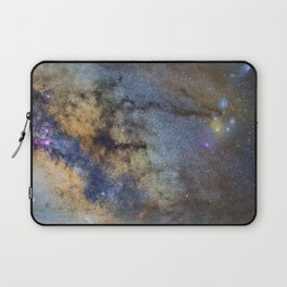 The Milky Way and constellations Scorpius, Sagittarius and the super big red star Antares. Laptop Sleeve