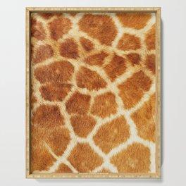 Giraffe Print Serving Tray