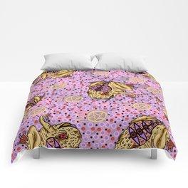 pentragram and frog Comforters
