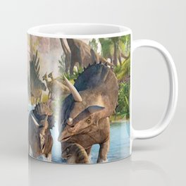 Jurassic dinosaurs in the river Coffee Mug