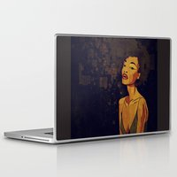 afro Laptop & iPad Skins featuring afro - Soul by Mike Koubou