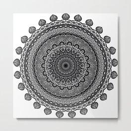 Mandala Black&White Metal Print