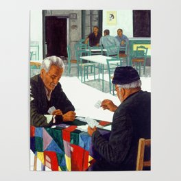 Afternoon at cafe Poster