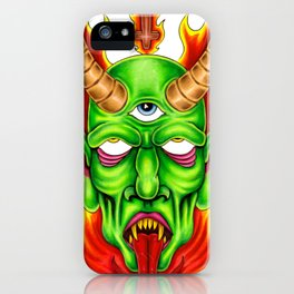 Third Eye Fire Demon iPhone Case