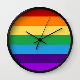 Rainbow flag Wall Clock