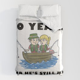 Anniversary 20 Couple Fishing Wife Husband Gift Comforters