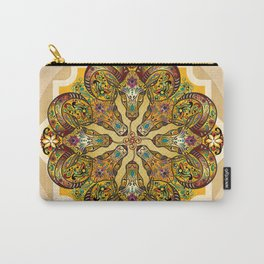 Mandala Sacred Rams - Bright Version Carry-All Pouch
