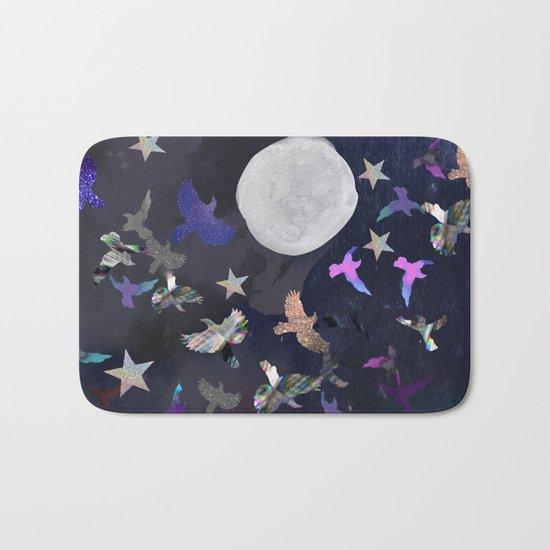 Midnight Birds Bath Mat