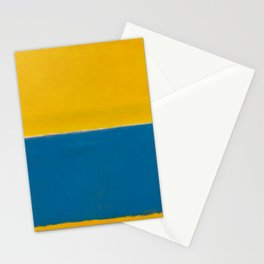 Untitled (Yellow and Blue) by Mark Rothko HD Stationery Cards