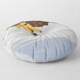 Snowboarding Fool Floor Pillow