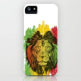 Rasta Jamaican Lion Gift for Rastafari & Reggae music fans graphic iPhone Case