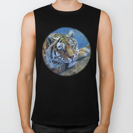 Tiger on the rock CC117 Biker Tank