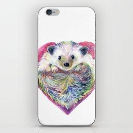HedgeHog Heart by Michelle Scott of dotsofpaint studios iPhone Skin