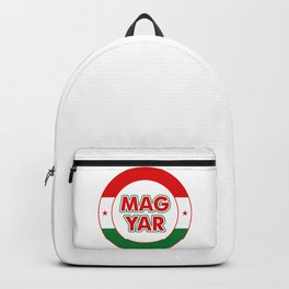 Magyar, circle, color Backpack