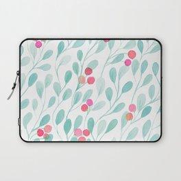 Watercolor Leaves Pattern Laptop Sleeve