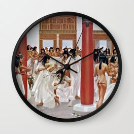"Classical Masterpiece ""The Court of Pharaoh and the High Priestess"" by H.M. Herget Wall Clock"