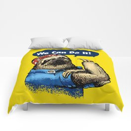 We Can Do It Sloth Comforters
