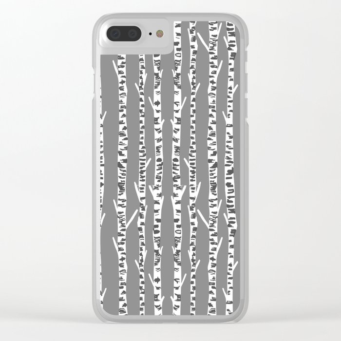 Birch Tree northwest minimal forest woodland nature pattern by andrea lauren Clear iPhone Case