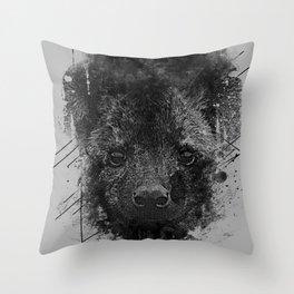 Young Predator Throw Pillow
