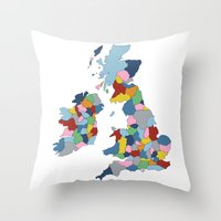 uk Throw Pillows featuring UK by Project M