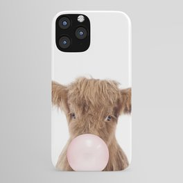 Bubble Gum Highland Cow Baby iPhone Case