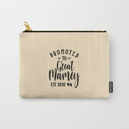 Promoted To Great Mamey Est.2020 Tee Mother's Day Gift Carry-All Pouch