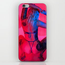 Synthwave Babe iPhone Skin