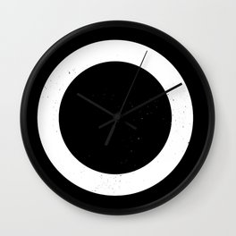 (CIRCLE) (BLACK & WHITE) Wall Clock