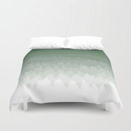 Green Ombré Forest Duvet Cover