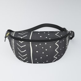 Moroccan Stripe in Black and White Fanny Pack
